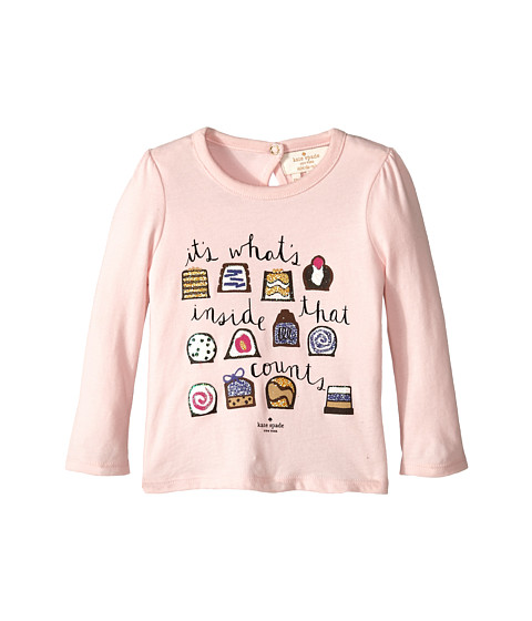 Kate Spade New York Kids - Chocolate Box Tee (Infant) (Pastry Pink) Girl's T Shirt