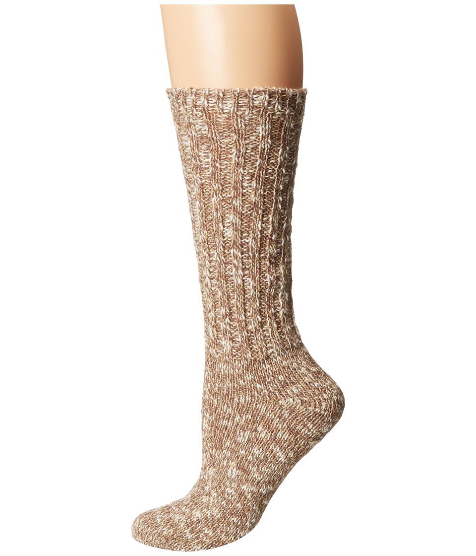 LAUREN Ralph Lauren - Rag Cotton Crew (Brown) Women's Crew Cut Socks Shoes