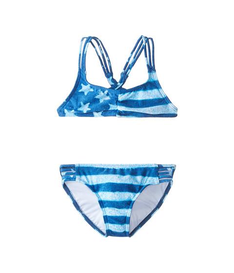 Billabong Kids - America Beautiful Tali Swimsuit (Little Kids/Big Kids) (Indigo) Girl's Swimwear Sets