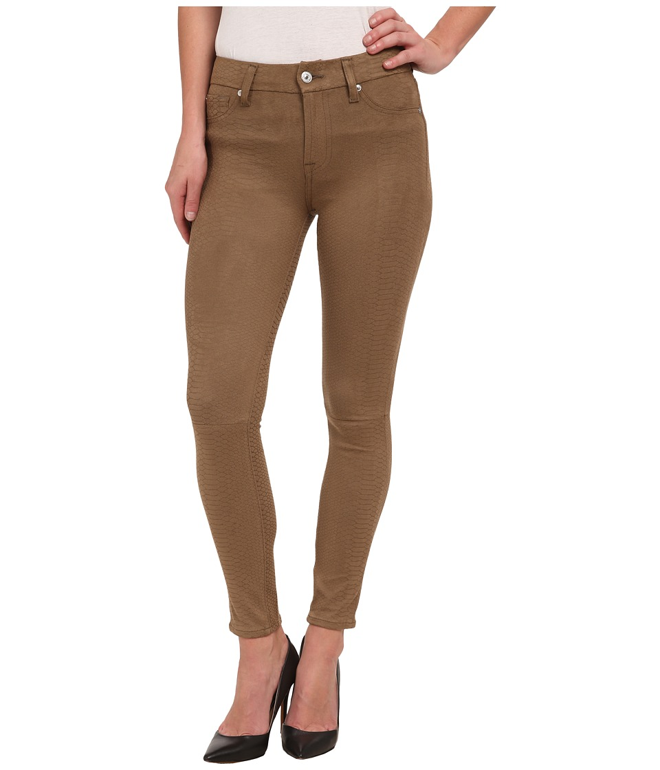7 For All Mankind - High Waist Ankle Knee Seam Skinny in Mocha Snake (Mocha Snake) Women