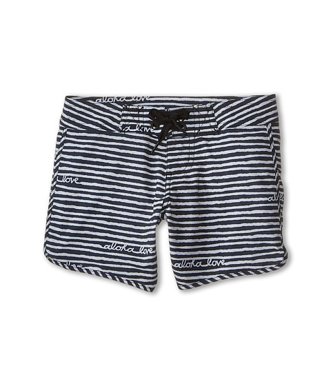 Billabong Kids - Aloha Love Boardie Boardshorts (Little Kids/Big Kids) (Off Black) Girl's Swimwear