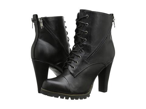 C Label - Binky-2 (Black) Women's Lace-up Boots