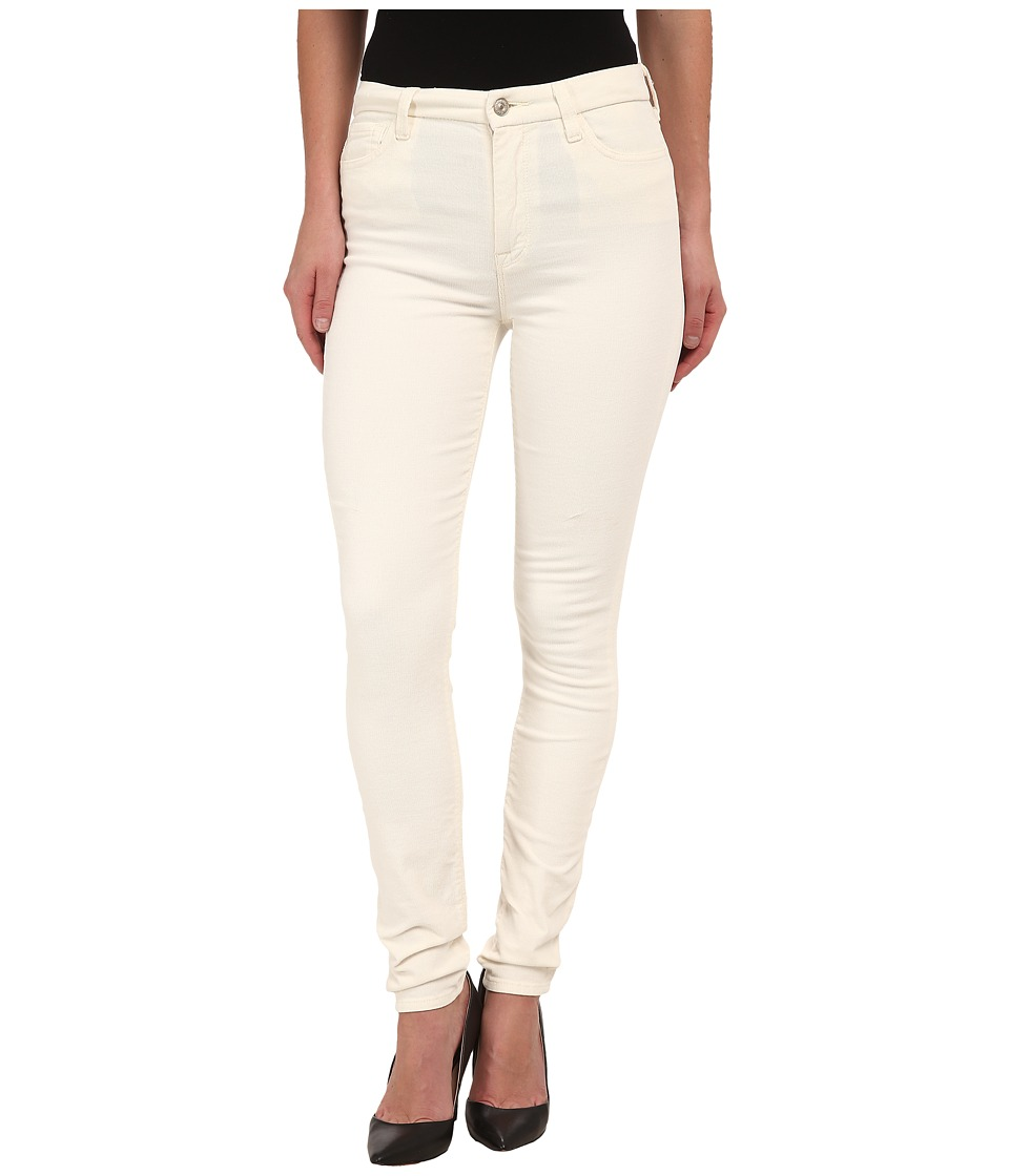 7 For All Mankind - The High Waist Skinny Cord in Soft White (Soft White) Women