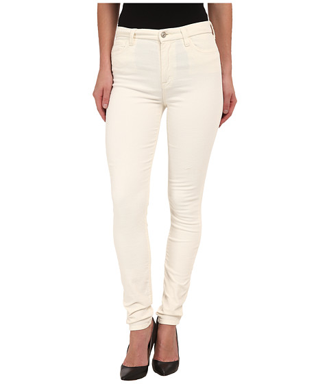 7 For All Mankind - The High Waist Skinny Cord in Soft White (Soft White) Women's Jeans