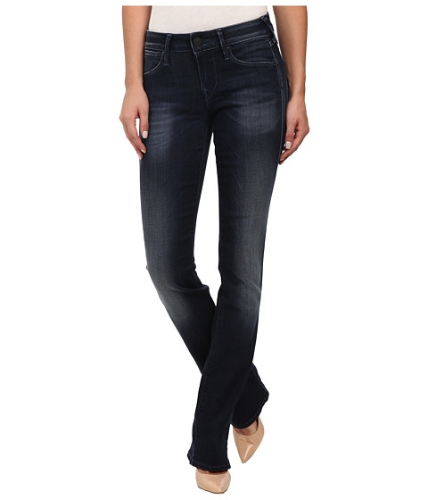 True Religion - Gina Mini Bootcut Jeans in Basic Dark (Basic Dark) Women's Jeans