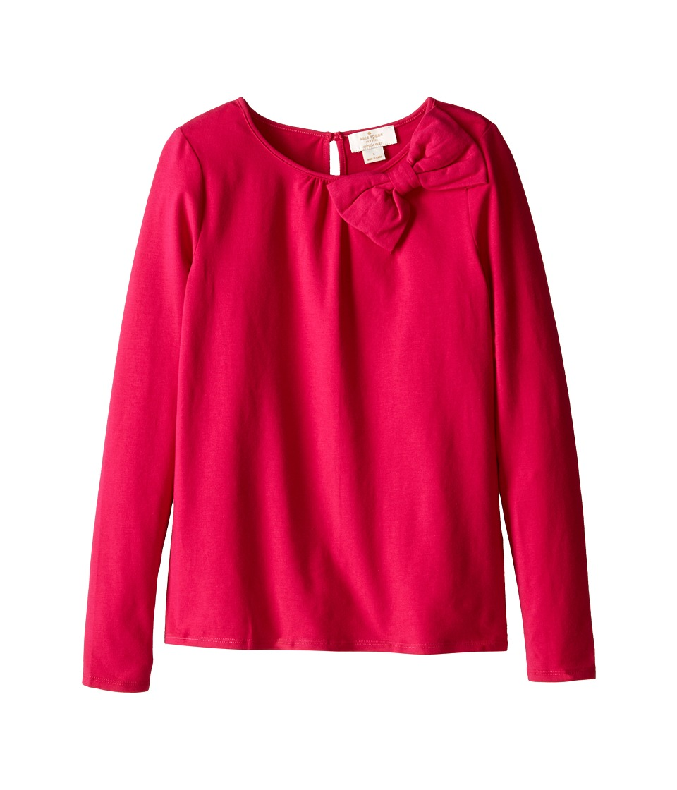 Kate Spade New York Kids - Bow Top (Big Kids) (Sweetheart Pink) Girl's Long Sleeve Pullover