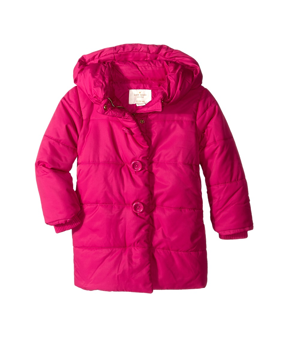 Kate Spade New York Kids - Puffer Coat (Toddler/Little Kids) (Sweetheart Pink) Girl's Coat