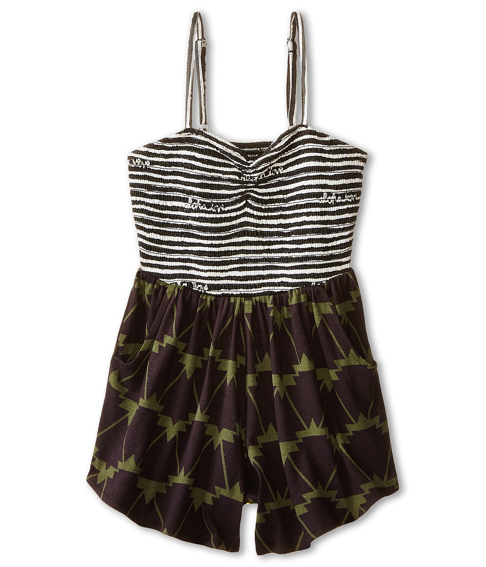 Billabong Kids - Make Believe Romper (Little Kids/Big Kids) (Off Black) Girl's Jumpsuit & Rompers One Piece