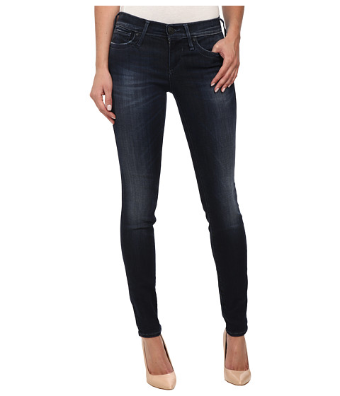 True Religion - Chrissy Mid Rise Super Skinny Jeans in Basic Dark (Basic Dark) Women's Jeans