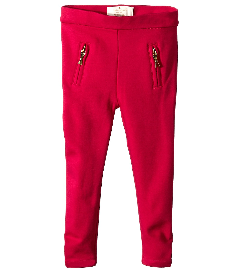 Kate Spade New York Kids - Leggings w/ Zipper Welts (Toddler/Little Kids) (Sweetheart Pink) Girl's Casual Pants