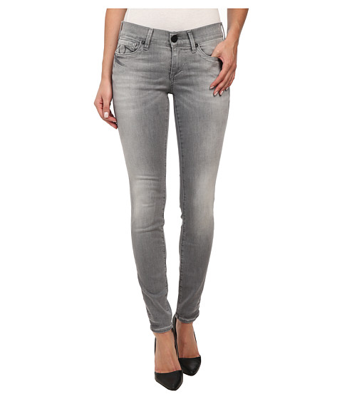 True Religion - Chrissy Mid Rise Super Skinny Jeans in Grey/White (Grey/White) Women's Jeans