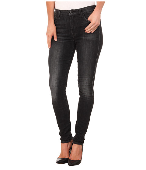 7 For All Mankind - The High Waist Skinny in Vintage Black (Vintage Black) Women