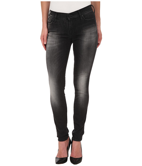 True Religion - Abbey High Rise Super Skinny Jeans in Black (Black) Women