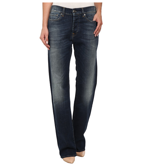 True Religion - Harper Low Rise New Boyfriend Jeans in Old Blinston Blue (Old Blinston Blue) Women's Jeans