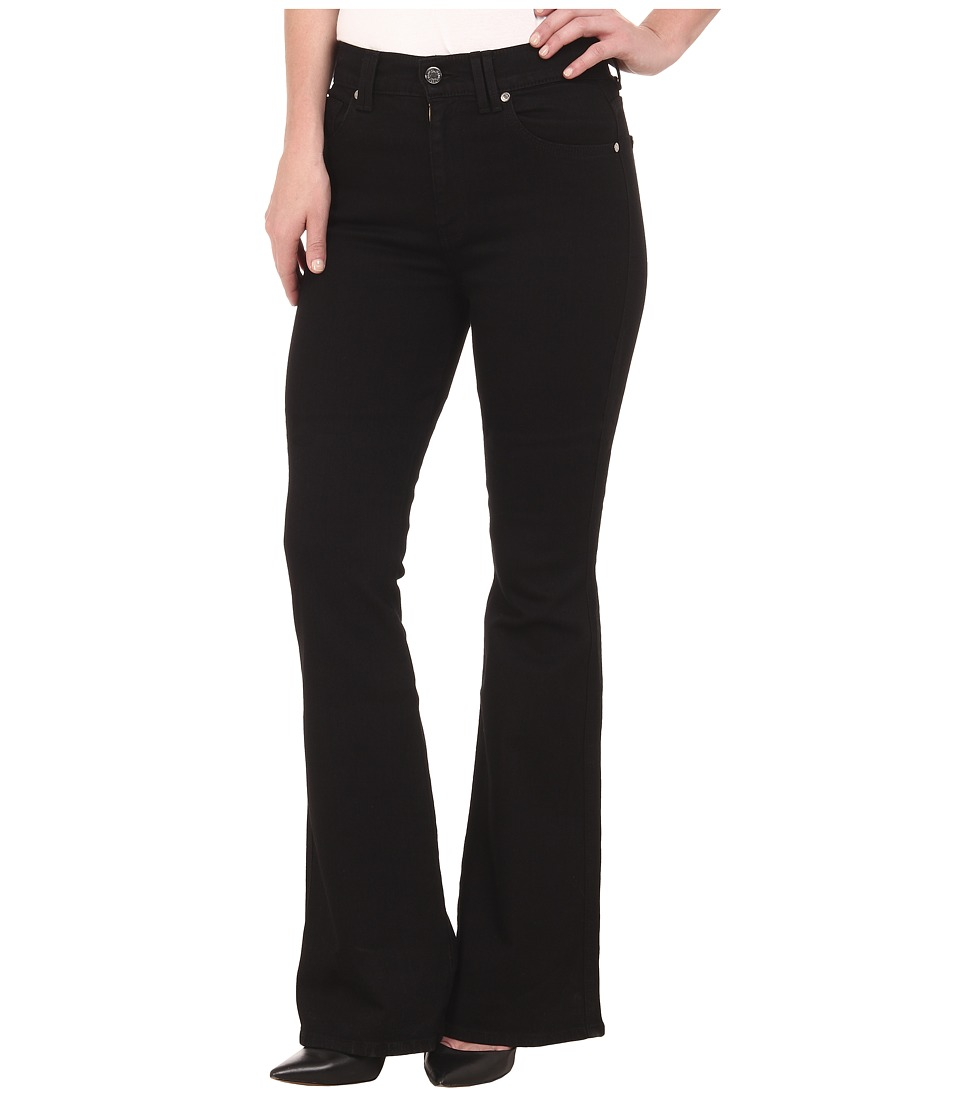 7 For All Mankind - Fashion Flare in Overdye Black (Overdye Black) Women's Jeans