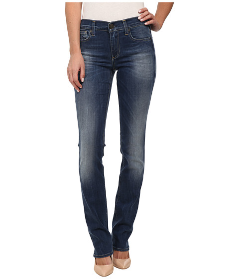 True Religion - Cora Slim Jean Straight Jeans in Medium Blue (Medium Blue) Women