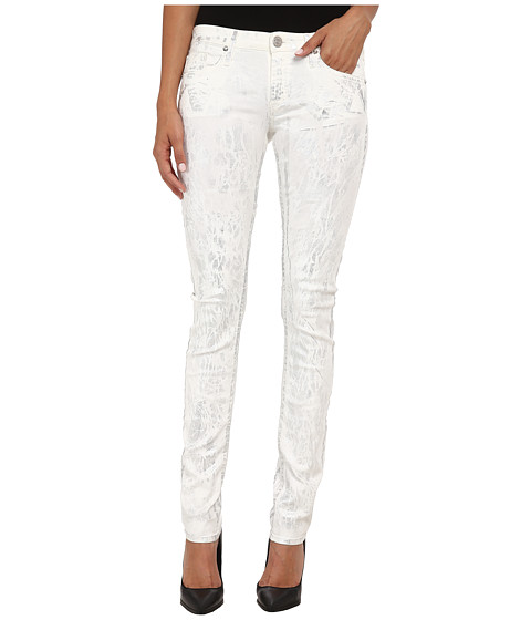 True Religion - Jude Low Rise Skinny Jeans in Silver Denim (Silver Denim) Women's Jeans