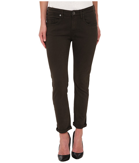 True Religion - Grace Low Rise New Boyfriend Jeans in Dark Green (Dark Green) Women