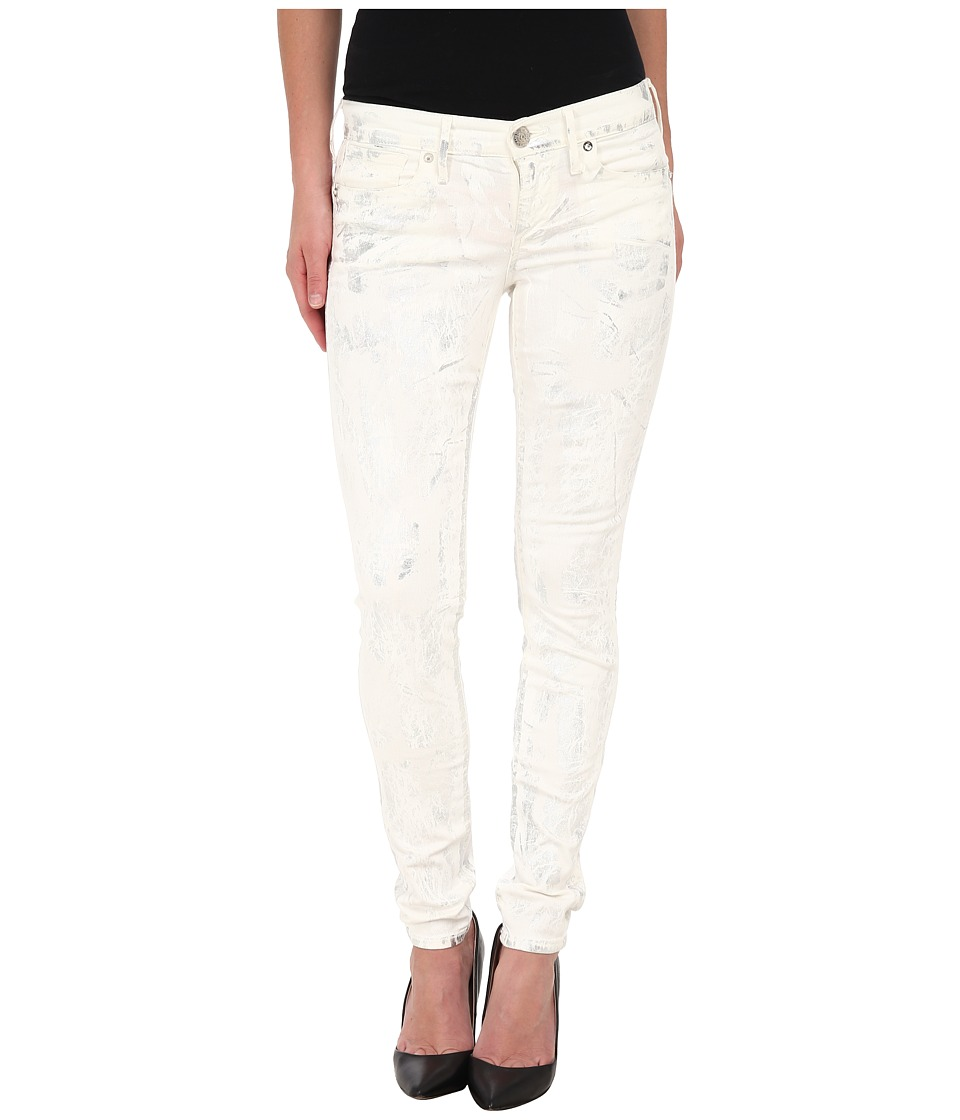 True Religion - Chrissy Mid Rise Super Skinny Jeans in Silver Denim (Silver Denim) Women's Jeans