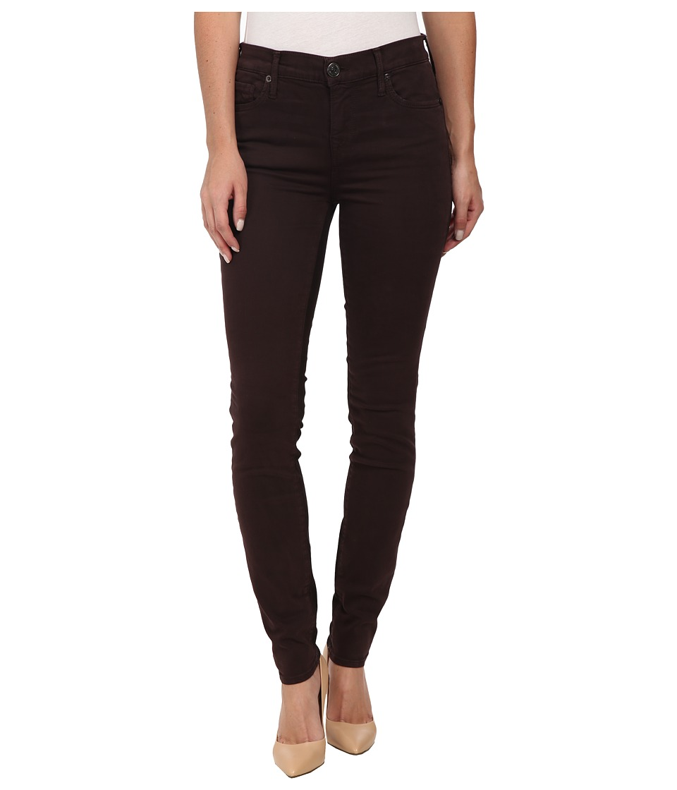 True Religion - Abbey High Rise Super Skinny Jeans in Bordeaux (Bordeaux) Women