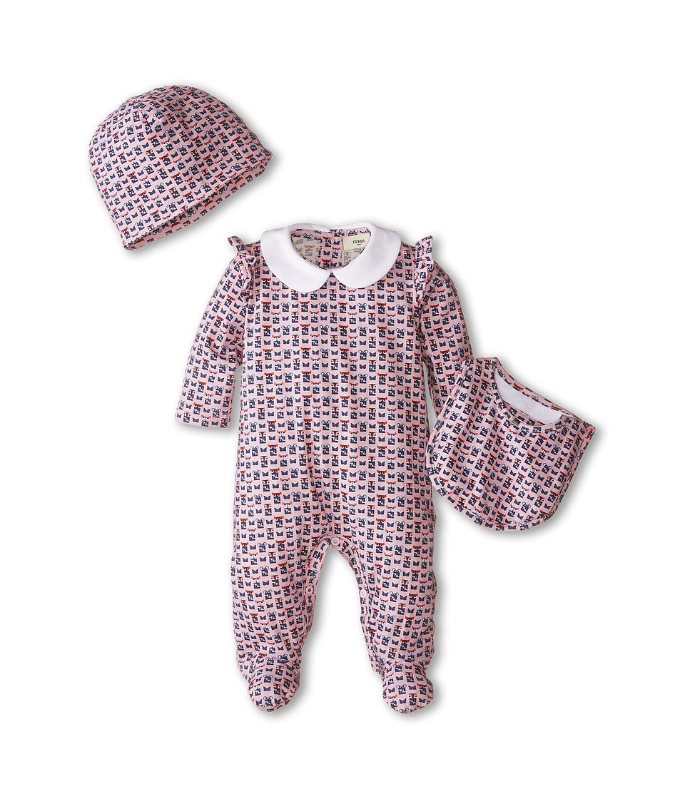 Fendi Kids - Gift Box Footie (Infant) (Pink) Girl's Jumpsuit & Rompers One Piece