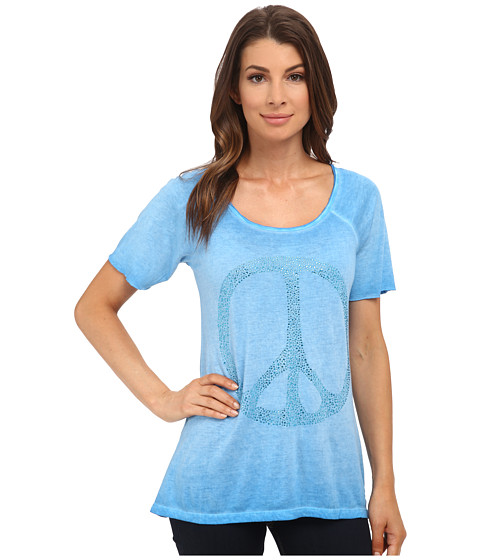 True Religion - Boxy Fit Raglan Tee (Swedish Blue) Women's T Shirt
