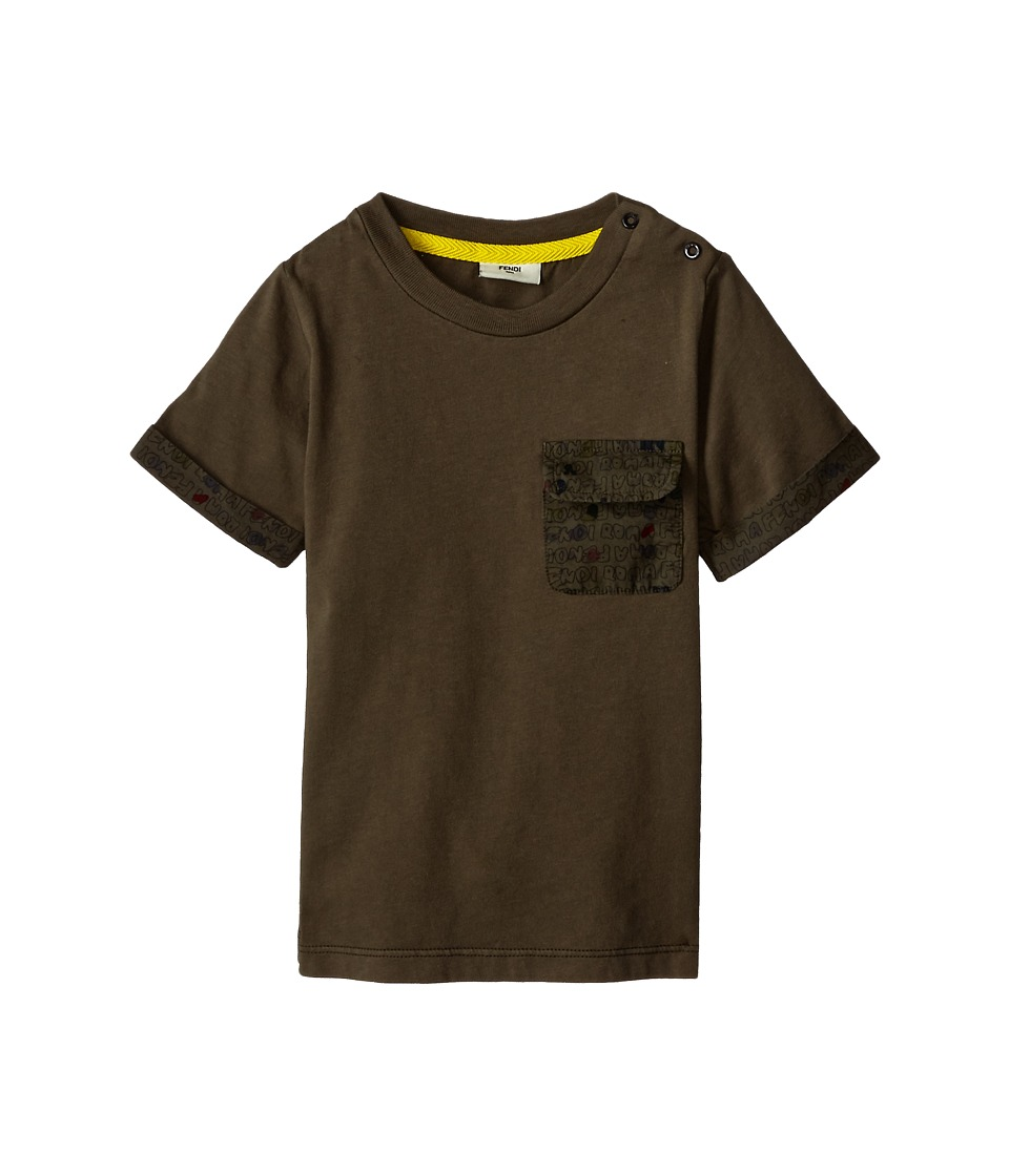 Fendi Kids - Shirt w/ Printed Pocket (Infant) (Multi) Boy's Short Sleeve Pullover