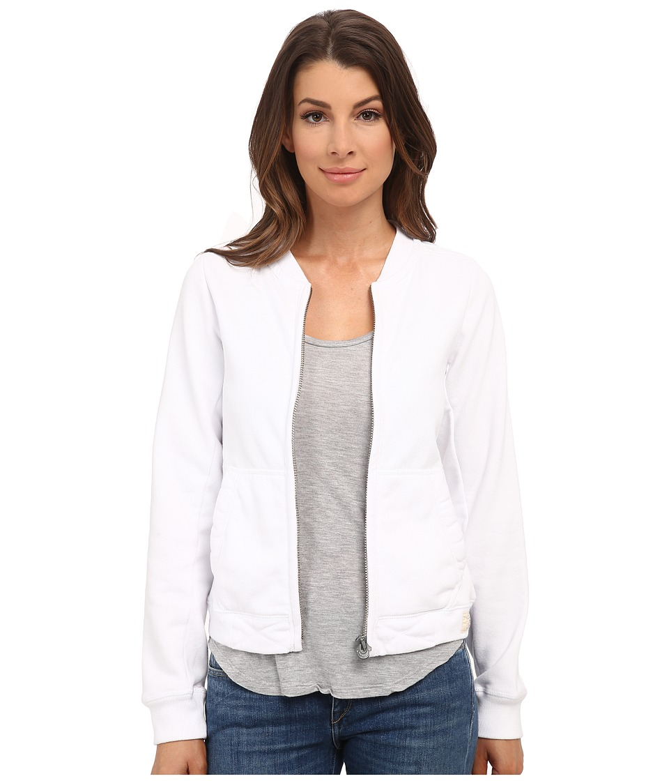 True Religion - Bomber Eagle Jacket (White) Women's Coat