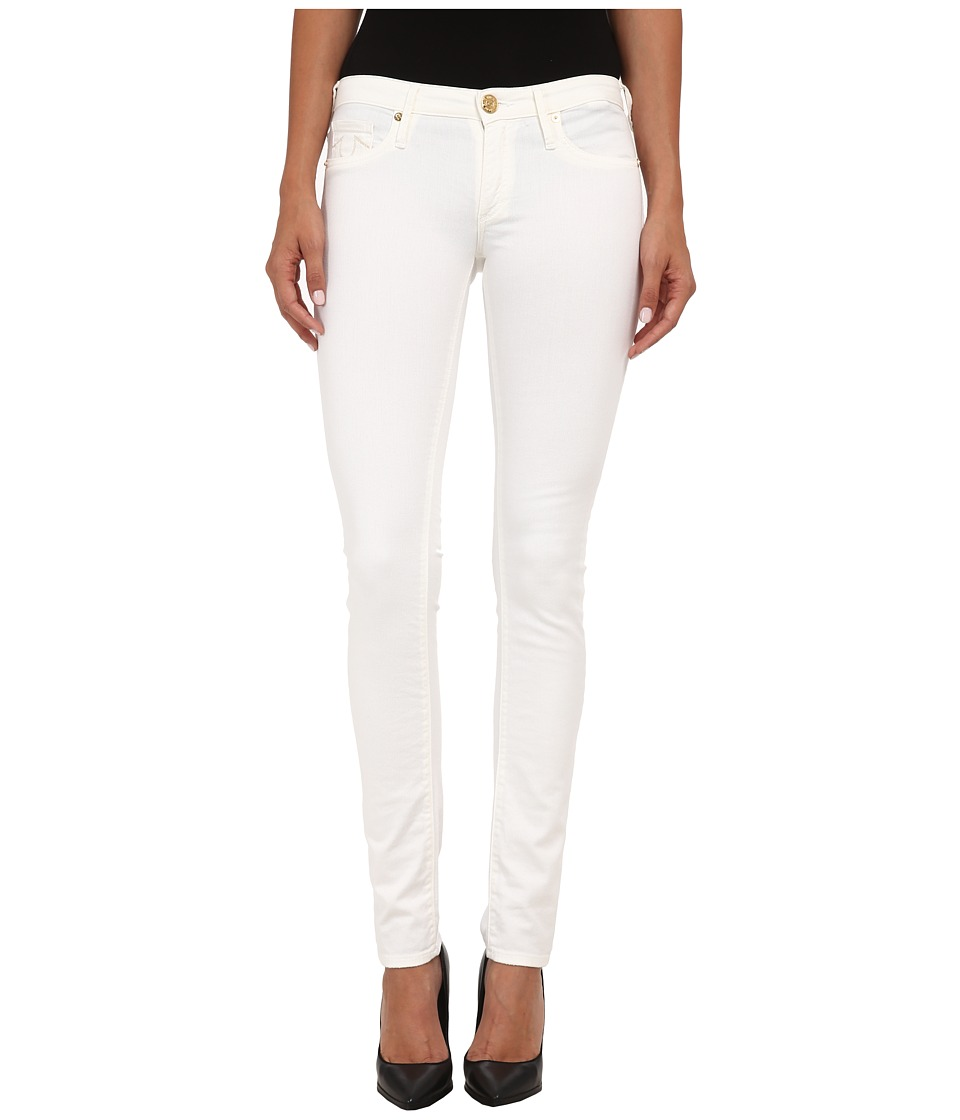 True Religion - Jude Low Rise Skinny Jeans in Optic White (Optic White) Women