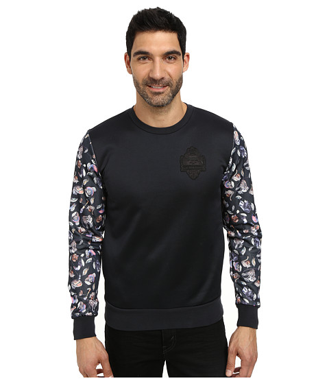 PUMA - HOH Printed Sweatshirt (Dark Navy) Men