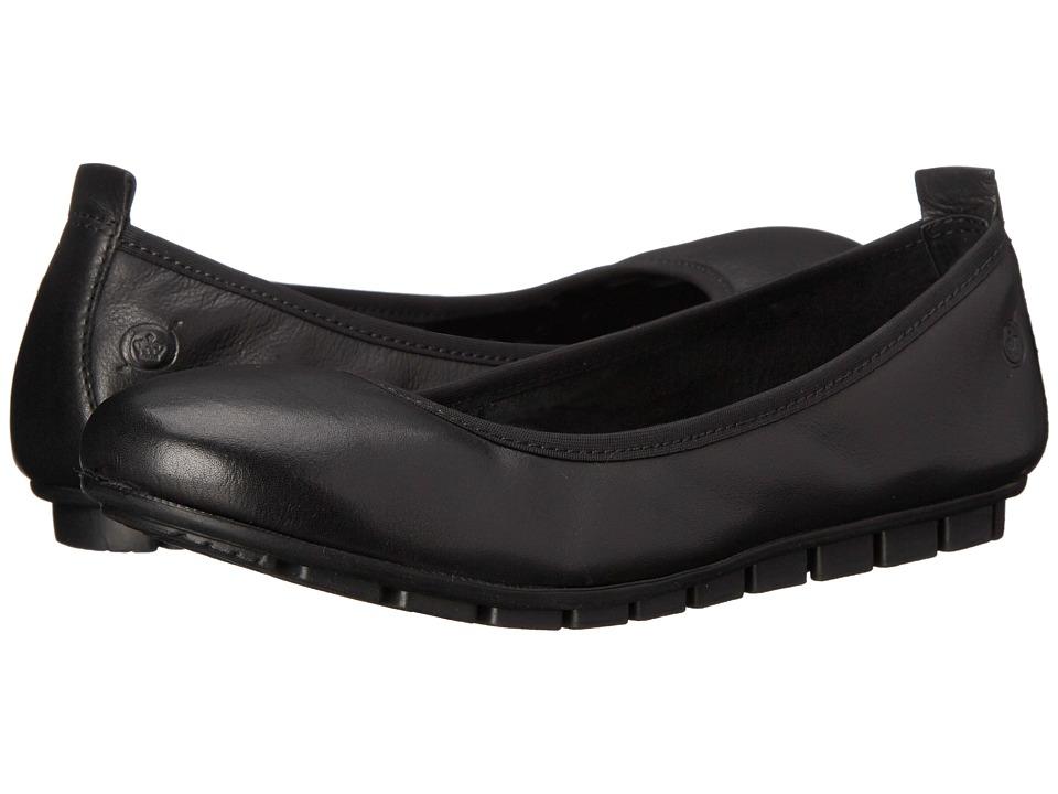 Born - Tami (Black Full Grain Leather) Women's Slip on Shoes
