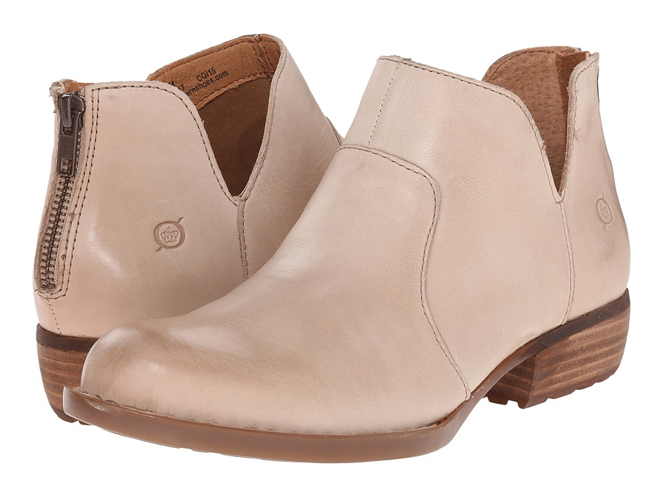 Born - Kerri (Taupe Full Grain Leather) Women's Dress Zip Boots
