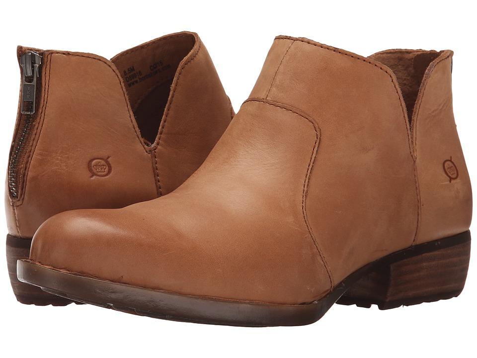 Born - Kerri (Curry Full Grain Leather) Women's Dress Zip Boots