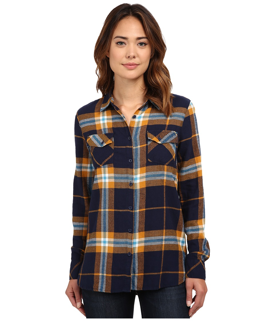 Volcom - Love Me Not Long Sleeve Top (Midnight Blue) Women's Long Sleeve Button Up