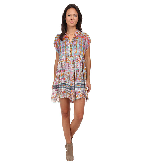 Free People - Extreme Shirtdress (Multi Combo) Women