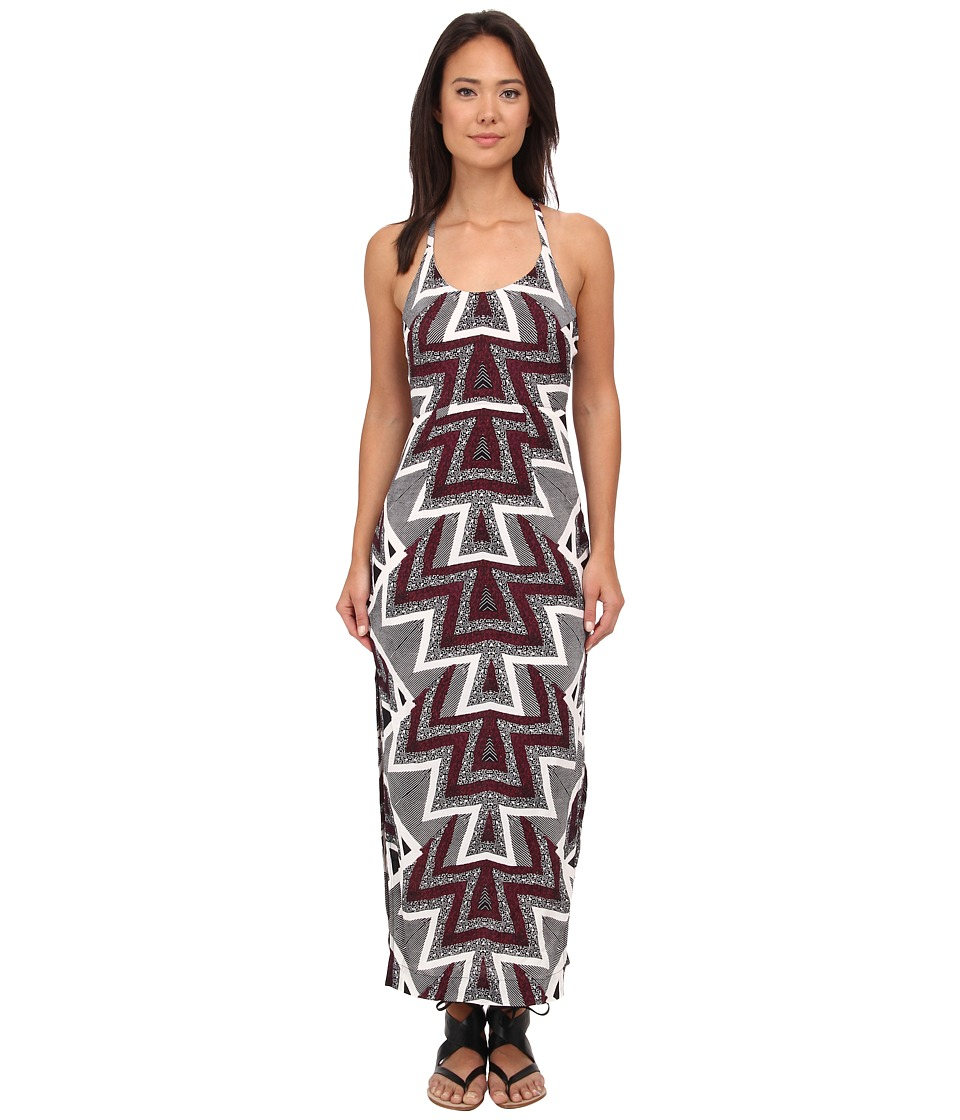 Free People Serves You Right Printed Maxi (Black Combo) Women