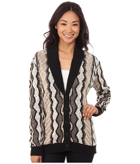 Volcom - Park It Cardigan (Bone) Women's Long Sleeve Button Up