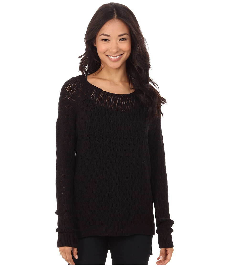 Volcom - For Love Sweater (Black) Women's Long Sleeve Pullover