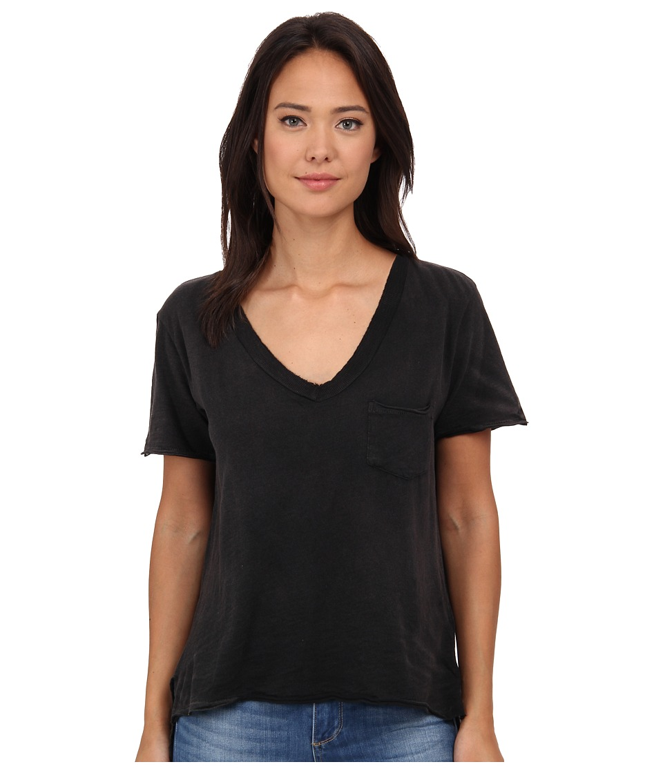 Free People - 757 Tee (Black) Women's T Shirt