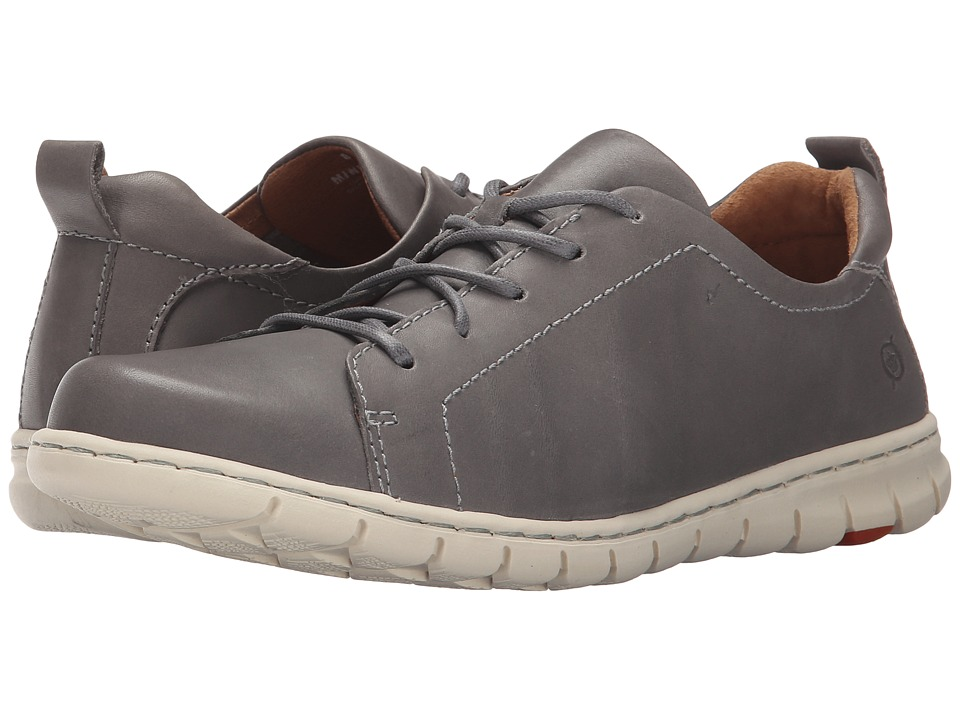 Born - Kester (Grey Full Grain Leather) Women's Lace up casual Shoes