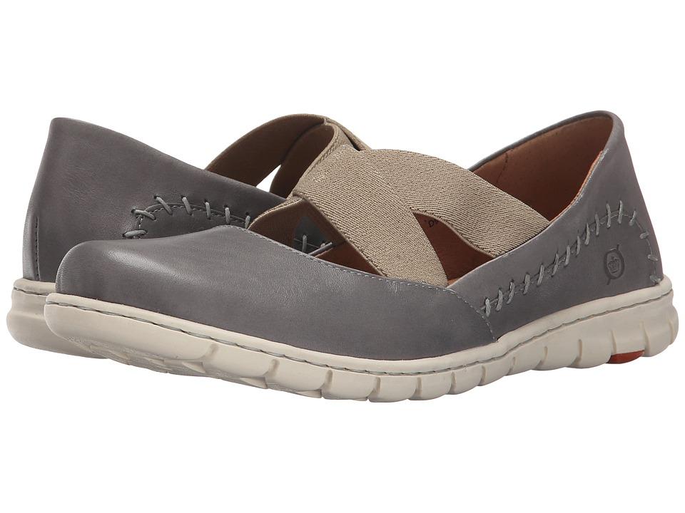 Born - Larney (Grey Full Grain Leather) Women's Shoes