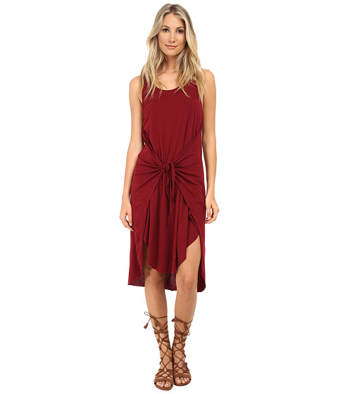Free People - Fantasy Jersey Back In Town Top (Burgundy) Women