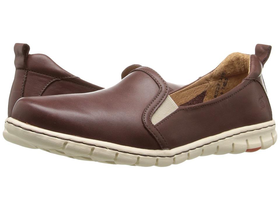Born - Meyer (Brown Full Grain Leather) Women's Slip on Shoes