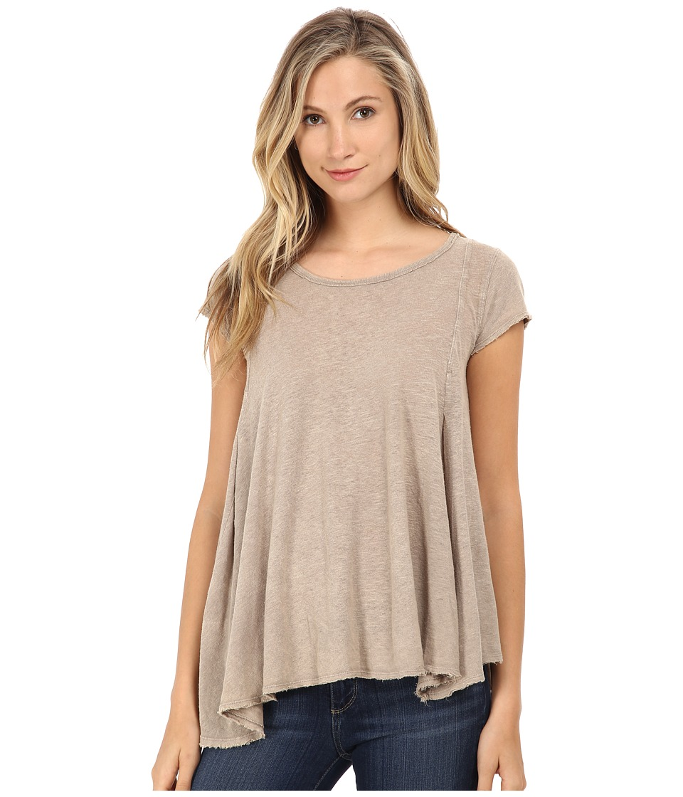 Free People - Slub Sylvie Tee (Taupe) Women