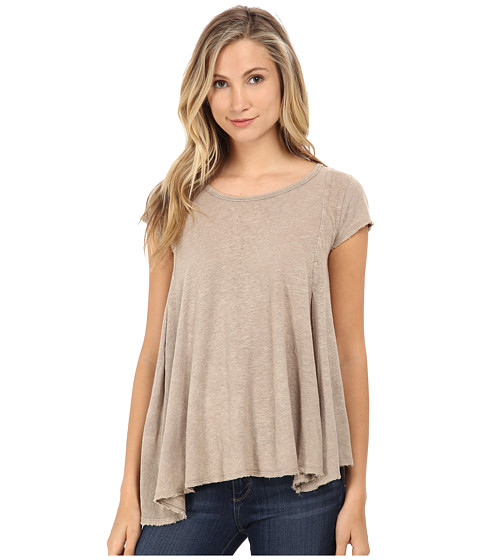 Free People - Slub Sylvie Tee (Taupe) Women's T Shirt