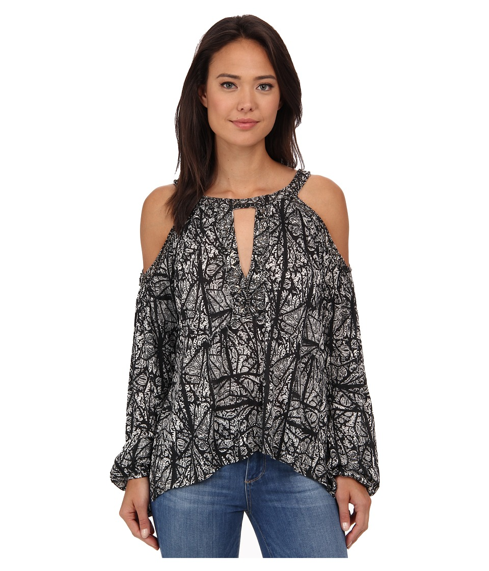 Free People - Good Morning Tee (Black Combo) Women's Blouse
