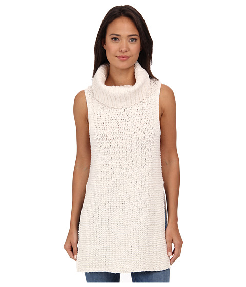 Free People - White Horses Mockneck Tunic (Ivory) Women's Sweater