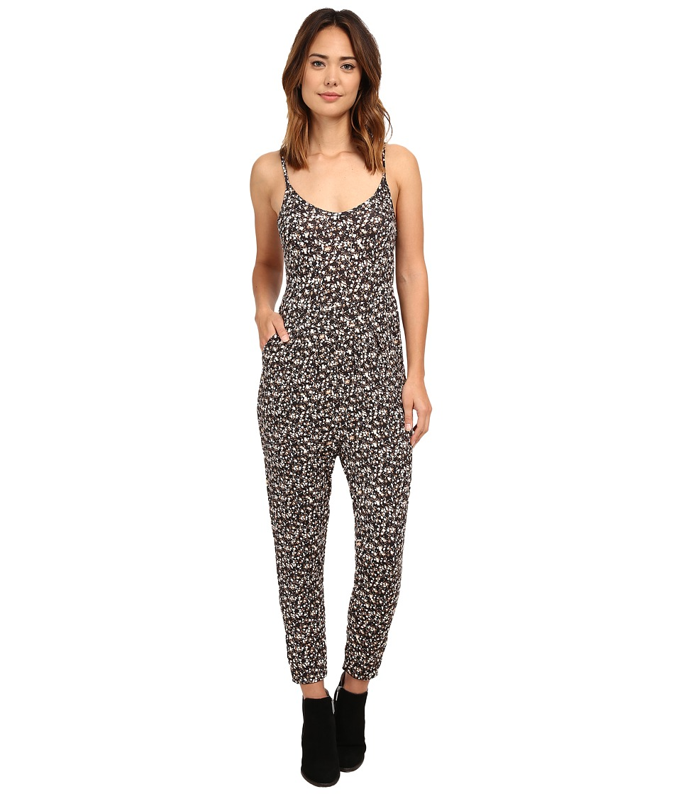 Volcom - Heavy Petal Jumpsuit (Black) Women's Jumpsuit & Rompers One Piece