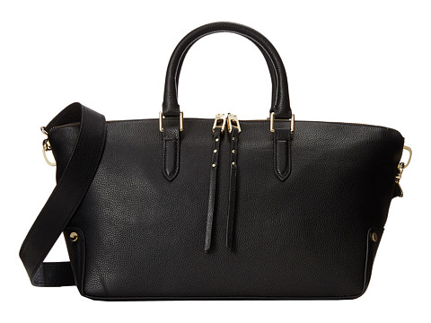 Ivanka Trump - Charlotte Satchel (Black) Satchel Handbags