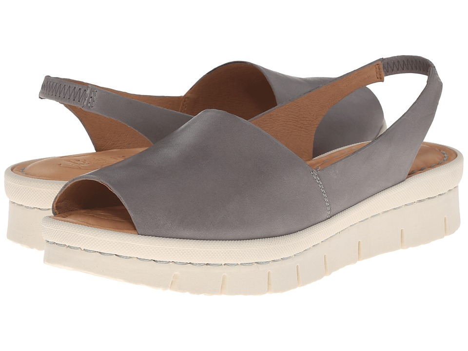 Born - Henny (Grey Full Grain Leather) Women's Sling Back Shoes